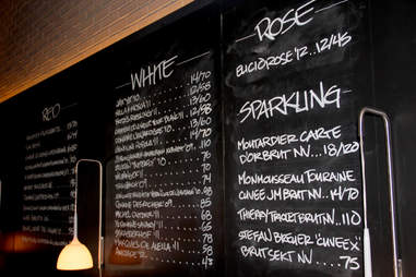 The wine list at Stephen Starr's Serpico on South St