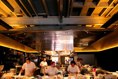 The open kitchen at Stephen Starr's Serpico on South St