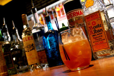 The Mezcal Ponche punch on the bar at Stephen Starr's Serpico on South St