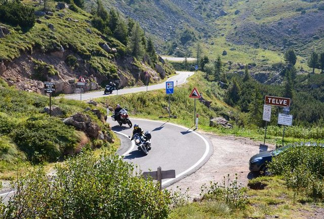 Take a badass motorcycle tour through the Alps