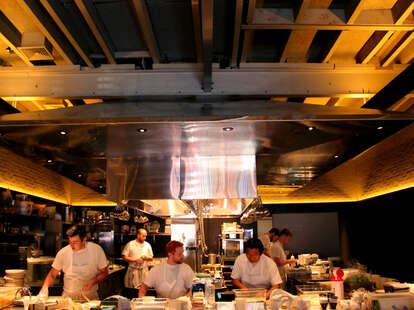 open kitchen at Serpico philadelphia