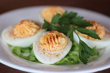 Deviled eggs at The Willows