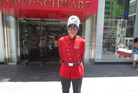 Greeter at FAO Schwarz