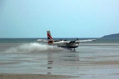 plane taking off from barra international