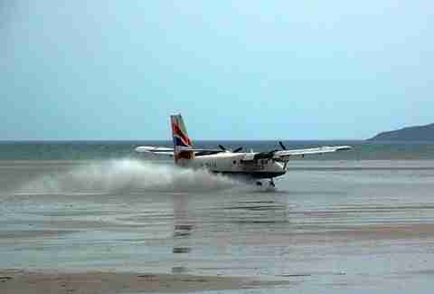 plane taking off from barra international