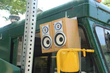 Speakers attached to the Braz BQ Truck at Drexel