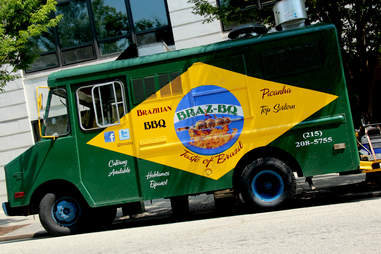 The Braz BQ truck's Brazilian flag exterior