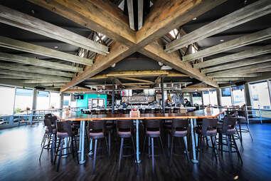 The bar at Wonderland Ocean Pub in Ocean Beach San Diego.