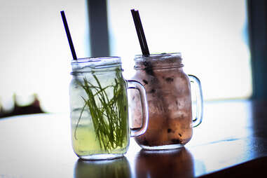 The Grass Roots and OBcean cocktails at Wonderland Ocean Pub in Ocean Beach San Diego.