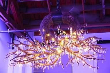 Crystal antlers at Lightbar.