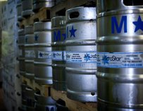 Kegs at Lucid Brewing