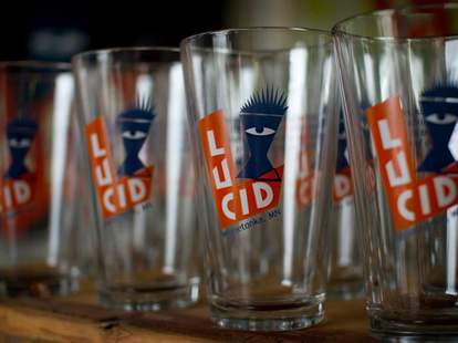 Glasses from Lucid Brewing