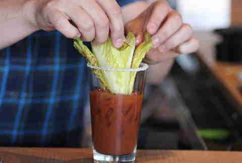romaine lettuce in Ultimate Bullseye Bloody at Kachina