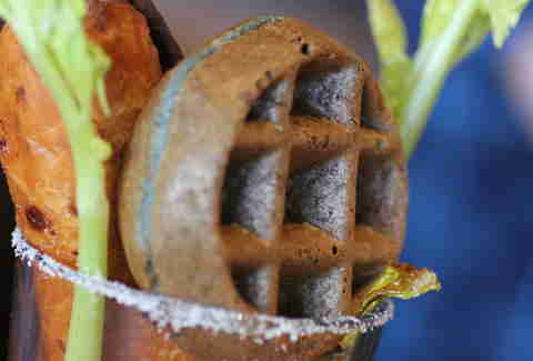 blue corn jalapeno waffle in Ultimate Bullseye Bloody at Kachina