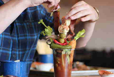 ancho bacon stir stick in Ultimate Bullseye Bloody at Kachina