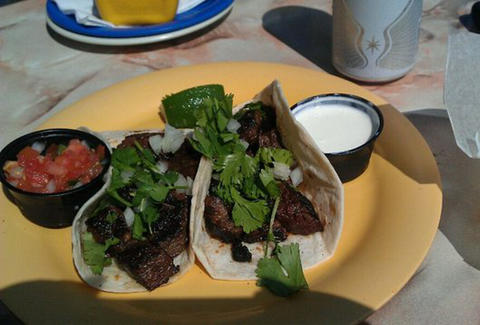 Steak Fajitas at Cantina Marina