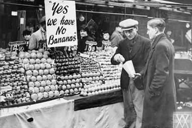 World War II banana shortage