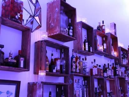 Liquor selection at Lightbar Buckman portland