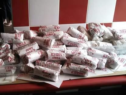 Cheesesteaks from Tony Luke's