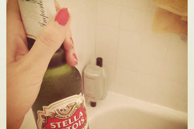 shower beer Stella