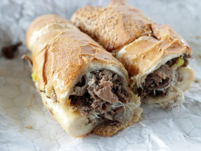 Cheesesteak from John's Roast Pork in Philly