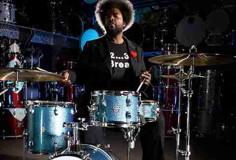 Questlove drumming with the Roots.