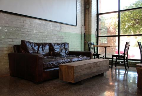 A couch at Shinola