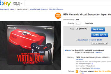 Virtual Boy on eBay