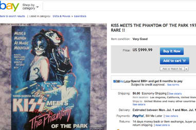 kiss meets the phantom of the park laserdisc