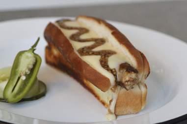 Foie Gras, Lamb, Pork Hot Dog