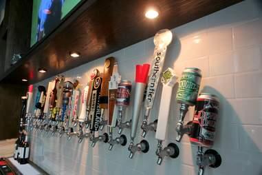 Beer taps at Barley and Swine