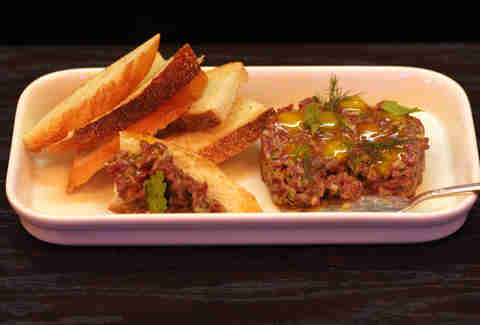 Bison tartare at The Berkshire Room in River North