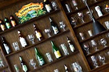 Hop Alley Brew Pub beer wall
