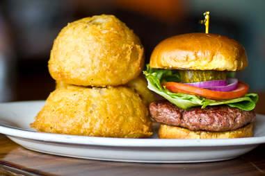 Hop Alley Brew Pub 50/50 burger