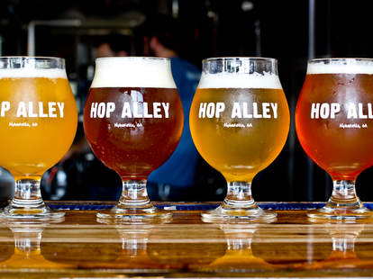 Hop Alley Brew Pub beers