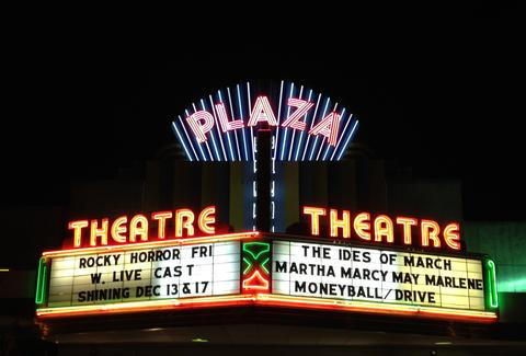 Exterior of Plaza Theater in Atlanta