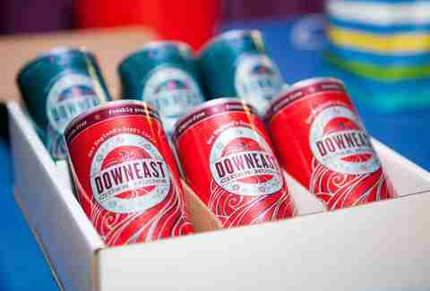 Cans of cider from Downeast