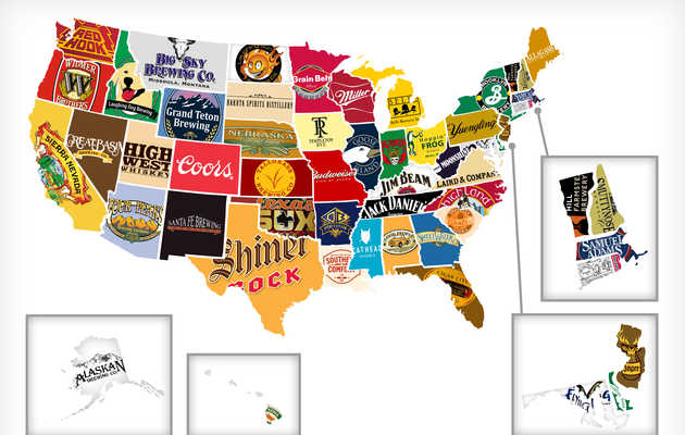 Red, White, and Booze: Mapping All 50 States' Most Iconic Beer/Hooch