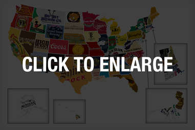 Favorite Beer & Liquor By State, Thrillist Booze map, most popular liquor by state