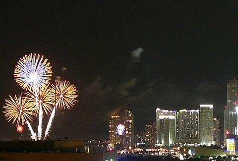 Fireworks over Miami