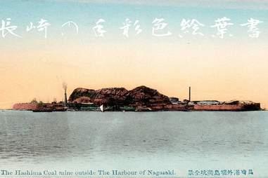 Hashima Island in Nagasaki, Japan