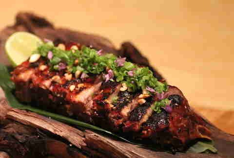 Baby back ribs at Roka Akor