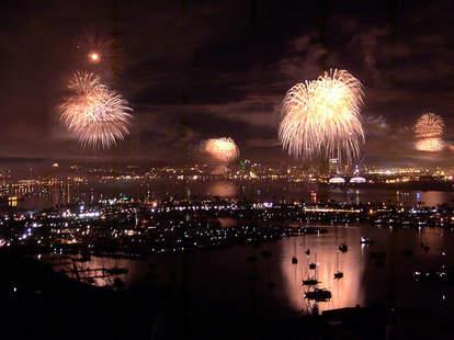 Big Bay Boom 4th of July fireworks display in San Diego.