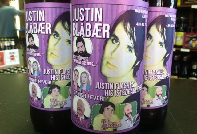 The crazy Danes at Evil Twin have created Justin Blåbær blueberry beer