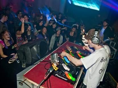 A DJ performing at Bar Fly