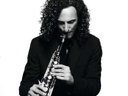 Kenny G playing