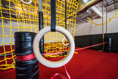 Hot Lava Obstacle course ropes and rings