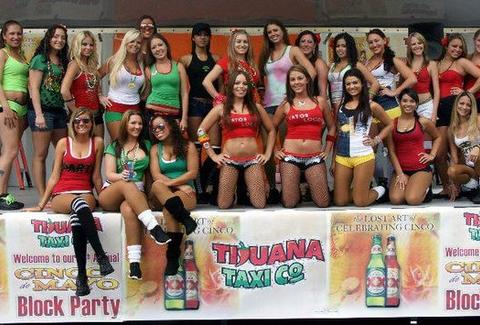 Waitresses at Tijuana Taxi