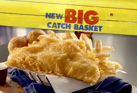 Long John Silver's Big Catch Basket