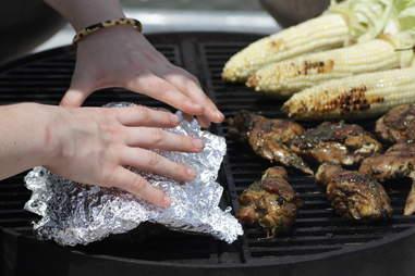 Cover it up - Grilling in BK Bridge Park